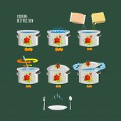 pic of boiling water  - Set cooking plates - JPG
