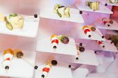 picture of canapes  - Luxury food on wedding table  - JPG
