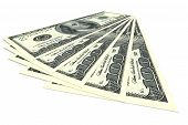 picture of 100 dollars dollar bill american paper money cash stack  - Money concept  - JPG