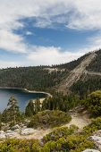 pic of landslide  - evidence of a landslide over the road in Emerald Bay Lake Tahoe - JPG