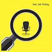 Постер, плакат: New Job Finding Concept Search For An Employee Looking For Talent Search For Businessman