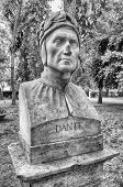 stock photo of comedy  - Bust statue of Dante Alighieri  - JPG