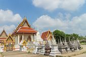foto of worship  - place of worship with sky background at Wat Khun Thip - JPG