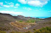 stock photo of cultivation  - View of Cultivated Field in the Canary Islands - JPG