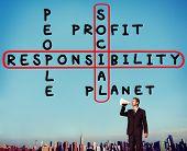 stock photo of ethics  - Social Responsibility Reliability Dependability Ethics Concept - JPG