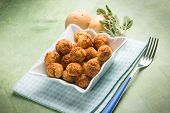 foto of meatball  - potatoes meatballs - JPG
