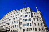 picture of street-art  - BBC Broadcasting House built in an art deco style in1932 - JPG