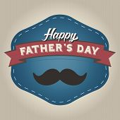 pic of mustache  - Happy Father - JPG