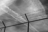 foto of outlaw  - Camp Fence in Black and White - JPG