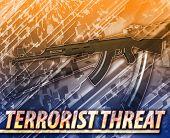 stock photo of terrorist  - Abstract background digital collage concept illustration terrorist threat - JPG