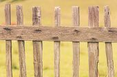 foto of primitive  - Primitive Wood Fence Closeup Photo - JPG