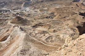 picture of masada  - The archaeological site of Masada - JPG