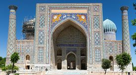 image of samarqand  - View of Sher Dor Medressa  - JPG