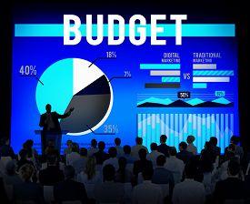 picture of budge  - Budge Finance Savings Profit Money Concept - JPG