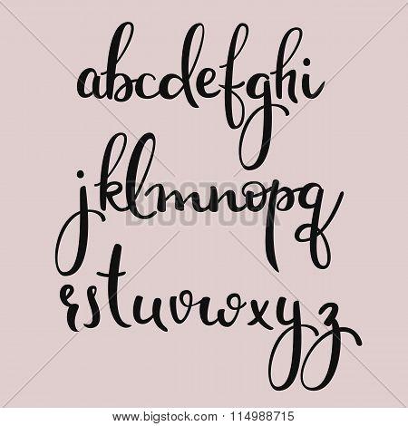 Handwritten Brush Style Calligraphy Cursive Font Poster