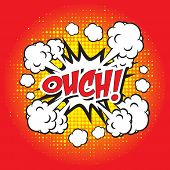 Постер, плакат: OUCH comic word