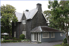 image of scoria  - Stone house with wooden annexe in Parnell - JPG