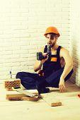 Sexy Muscular Man Builder poster