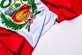 Authentic flag of the Peru poster