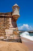 stock photo of bandeiras  - Fortress Ponta da Bandeira detal in Lagos Algarve Portugal - JPG