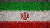 National Flag Of Iran On A Stone Background.the Concept Of National Pride And Symbol Of The Country. poster