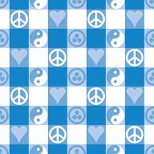Peace Plaid Blue