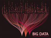 Big Data Statistical Methods Visualization Concept Vector Design. 0 And 1 Binary Code Matrix Data Vi poster
