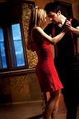 image of tango  - A man and a woman in the most romantic dance - JPG
