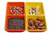 stock photo of flaxseeds  - Dry fruit seeds  - JPG