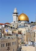 picture of aqsa  - view of the Al Aqsa Mosque from the Jewish Quarter in Jerusalem - JPG