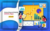 Accountant Need Statistics For Bookkeeping. Accounting Firms Have Mobile Statistics Apps To Manage D poster