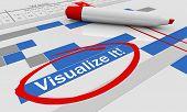 Visualize It Imagine Gantt Chart Imagination 3d Illustration poster