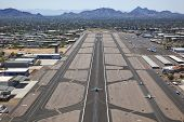 pic of piestewa  - Runway and aircraft at Scottsdale - JPG