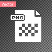 White Png File Document. Download Png Button Icon Isolated On Transparent Background. Png File Symbo poster