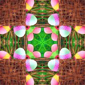 Seamless Symmetrical Pattern Abstract Decorative Eggs Texture poster