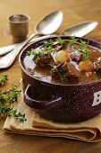 image of boeuf  - Traditional french beef  vegetable goulash  Boeuf bourguignon - JPG