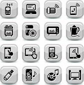 picture of televisor  - Electronic Devices Icons Set for web and mobile - JPG