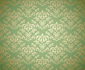 Damask seamless pattern on gradient background stylized like textile. Could be used as repeating wal