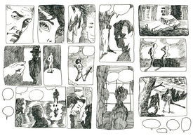 foto of storyboard  - A hand drawn illustrations - JPG