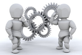 pic of mechanical engineer  - Working together to solve the problem  - JPG