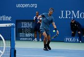 US Open 2013 champion Rafael Nadal during his final match against Novak Djokovic