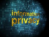 Privacy concept: Information Privacy on digital background