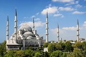 Sultan Ahmed Mosque Landmark In Istanbul Turkey