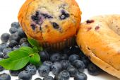 Bagel e blueberry Muffin