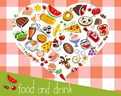 Assorted Food Background