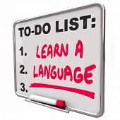 Learn Language To Do List Skill Education