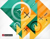 Business geometric infographic poster. Paper geometric shapes with options and space for text. Can b