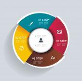 image of seminars  - 3d design infographics for presentations seminars advertising - JPG