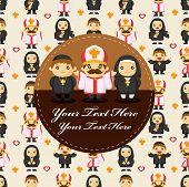 foto of nun  - cartoon Priest and nun card - JPG