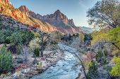 ������, ������: Autumn Sunset on the Watchman